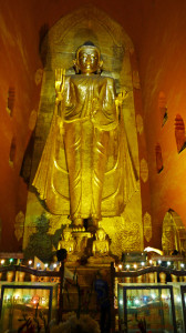 One of the four 9 meter Buddhas at Ananda Temple, Bagan