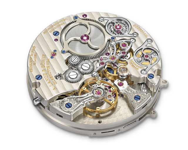 The hand-wound L043.5 movement with 771 components.